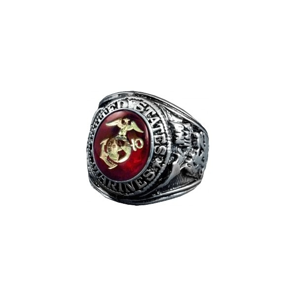 US Marine Corps Ring Style No. 510 ($150) ❤ liked on Polyvore