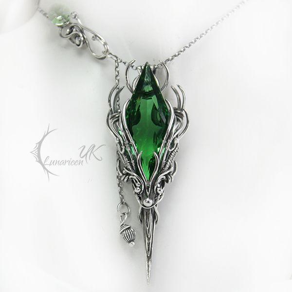 APSINTUQ - silver and green quartz by LUNARIEEN.deviantart.com on @deviantART