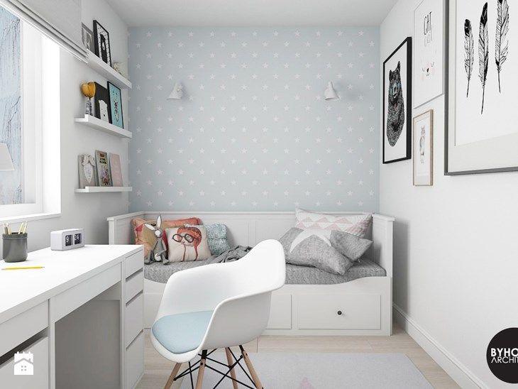 scandiHOUSE - Mały pokój dziecka dla dziewczynki dla ucznia dla nastolatka, styl skandynawski - zdjęcie od BYHOUSE ARCHITECTS
