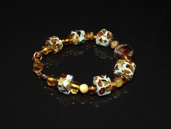 Baltic amber mosaic amber mosaic bracelet amber by styledonna