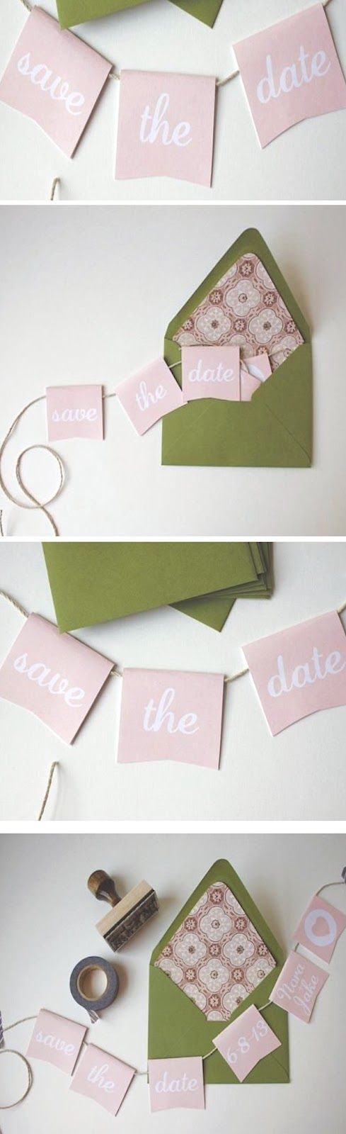 DIY WEDDING : Mini Bunting Save the Dates ~ Weddings at artīt(us)