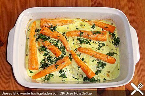 Möhren - Kohlrabi - Gratin, ein raffiniertes Rezept aus der Kategorie Gemüse. Bewertungen: 1. Durchschnitt: Ø 3,0.