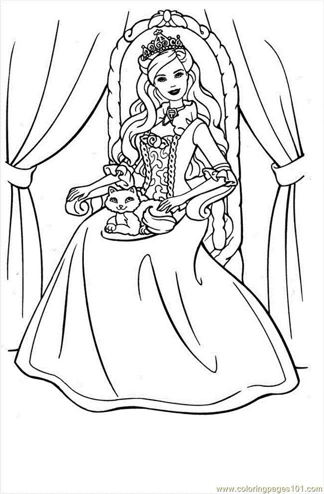 free printable princess colouring page crayola