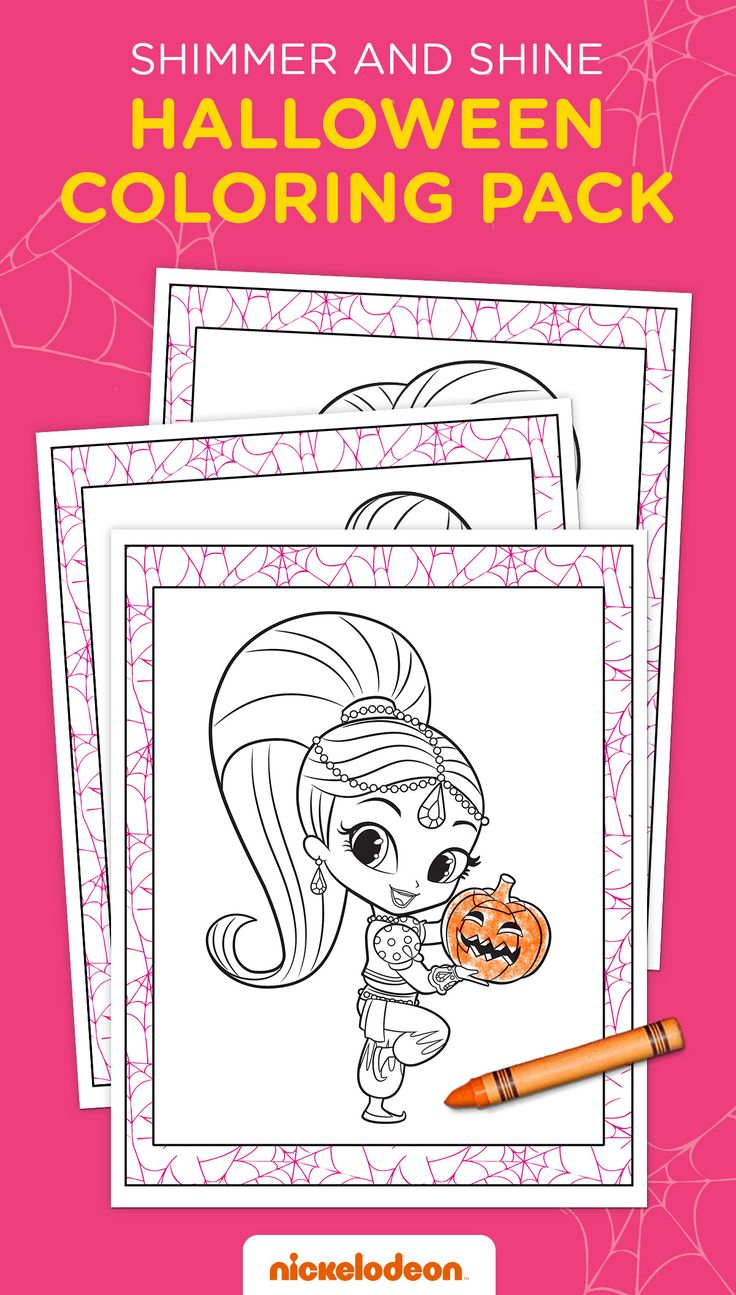 Shimmer And Shine Halloween Coloring Pack Halloween