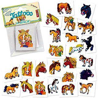24 Mini-Tattoos * Ponyhof / Pony * von LUTZ MAUDER // 47306 // Pferde Tiere Geschenk Tattoo Kindertattoos
