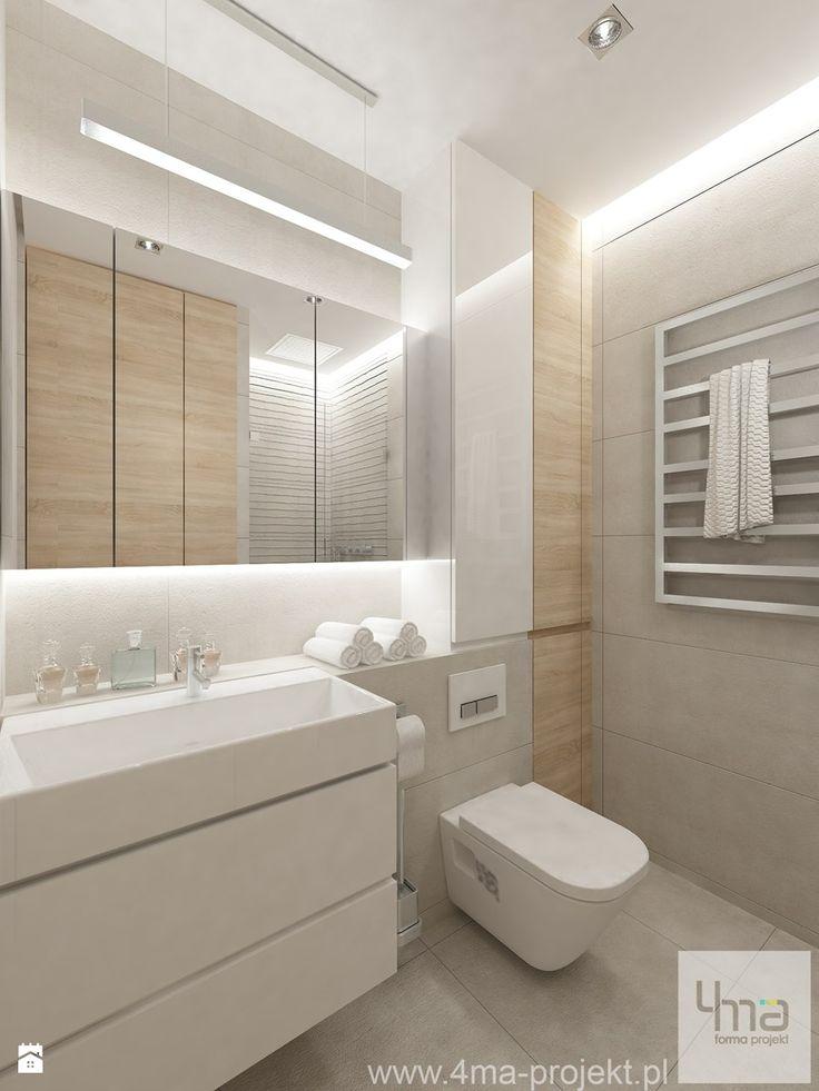 Projekt Mieszkania W Pruszkowie   Pow. 52,5 M2.   Łazienka, Styl