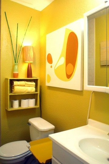 197 best gray yellow bathroom ideas images on pinterest for Bright yellow bathroom ideas