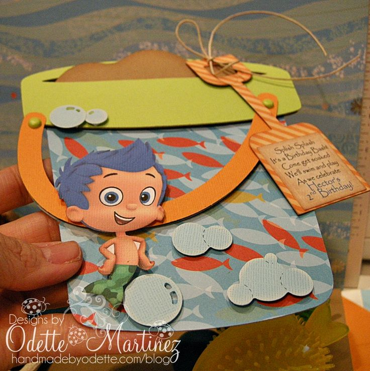Bubble Guppies invitation idea