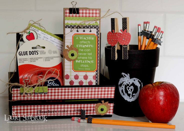 The 99 best gift basket ideas images on pinterest gift basket back to school teacher gift basket scrapbook negle Images