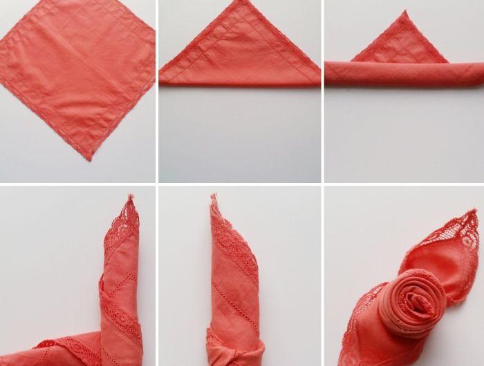 1001 Idees Creatives De Pliage De Serviette Pour Mariage Pliage Serviette Rose Serviettes En Tissu Et Pliage Serviette