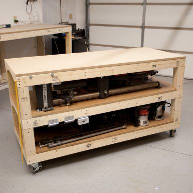 Tommy's Miter Saw Station with Rolling Workbench Plans