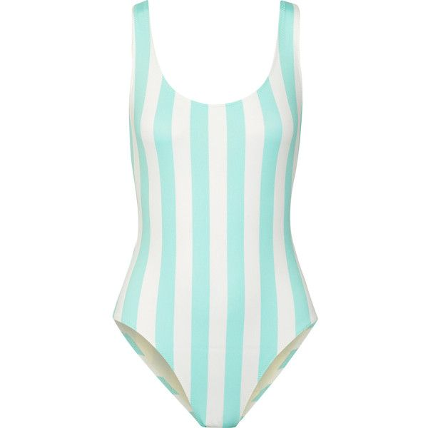 Solid and StripedThe Anne-marie Striped Swimsuit ($168) ❤ liked on Polyvore featuring swimwear, one-piece swimsuits, sky blue, bathing suit swimwear, graphic one-piece swimsuits, scoop back one piece swimsuits, swimsuit swimwear and blue and white one piece swimsuit