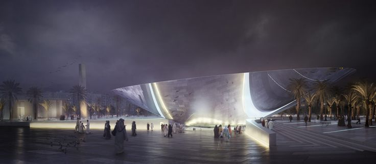 snohetta designs a sustainable urban oasis for metro station in riyadh, saudi arabia
