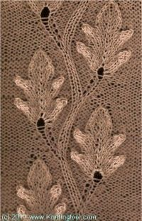 Leaf Cable Knitting Pattern : 669 best images about Knitting: Flowers, Leaves, Vines, Etc. on Pinterest C...