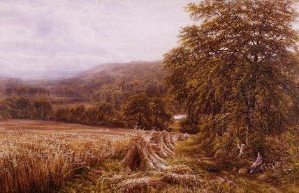 Harvest Time On The Dart de Edmund George Warren (1834-1909, United Kingdom)