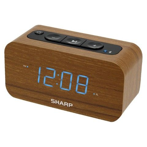 Sharp Alarm Clock With Bluetooth Speaker
