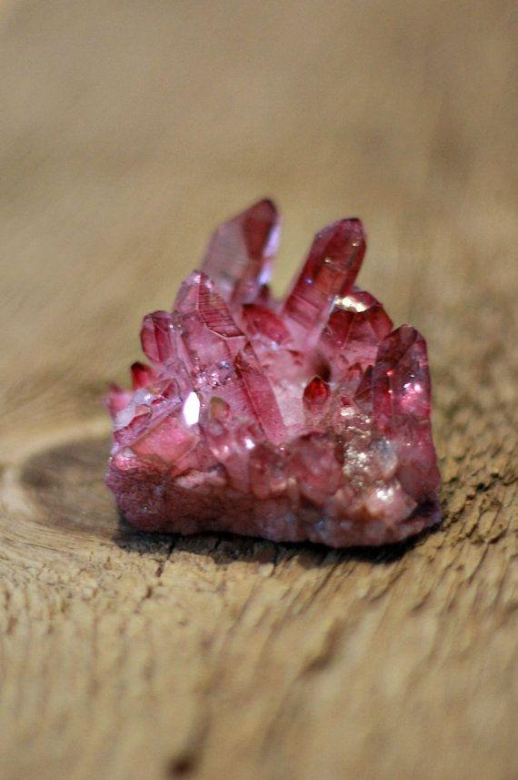 Rose aura quartz cluster pink aura quartz by LaShopLegendaire