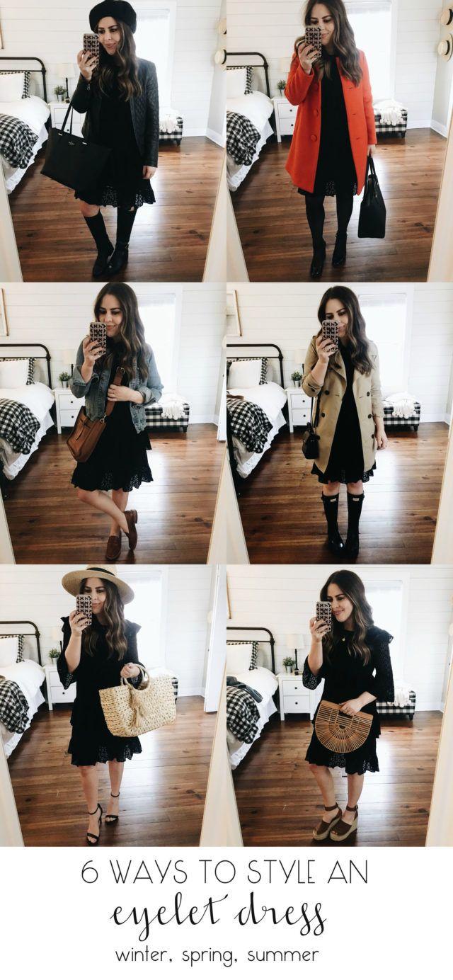 6 Ways To Style An Eyelet Dress For Winter Spring And Summer Dress Cori Lynn Black Eyelet Dress Eyelet Dress Fall Dress Outfit [ 1384 x 640 Pixel ]