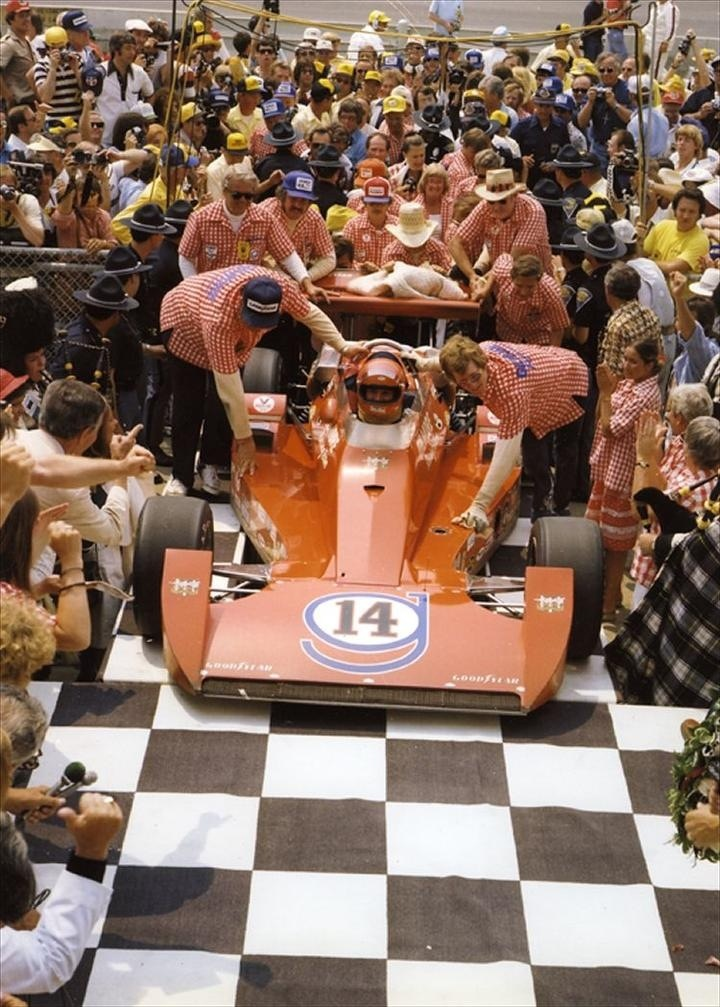 The first 4 time champion of the Indianapolis 500 - AJ Foyt (1977) #Indy500
