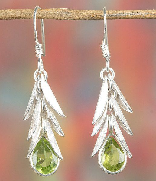 Peridot Jewellery – Gorgeous Solid Faceted Peridot Earring BJE-346-PRC – a…