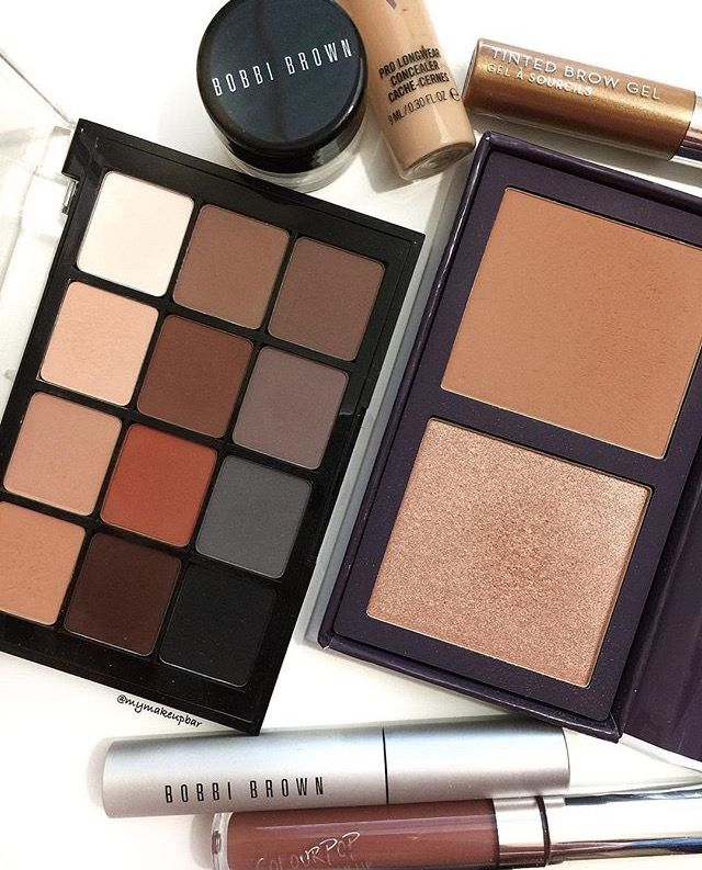 Viseart Neutral Mattes Palette  Colourpop strut and cpdoubleplay Bobbi brown smoky eye mascara Mac prolongwear concealer Anastasia tinted brow gel
