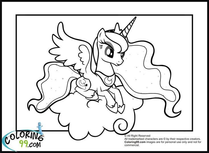 My Little Pony Princess Luna Coloring Pages Activities
