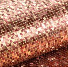 Бесплатная доставка высокая - класс красный мозаика обои потолок KTV предложения отелей фольги обои фон(China (Mainland))