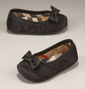burberry baby flats. these are melting my heart!!