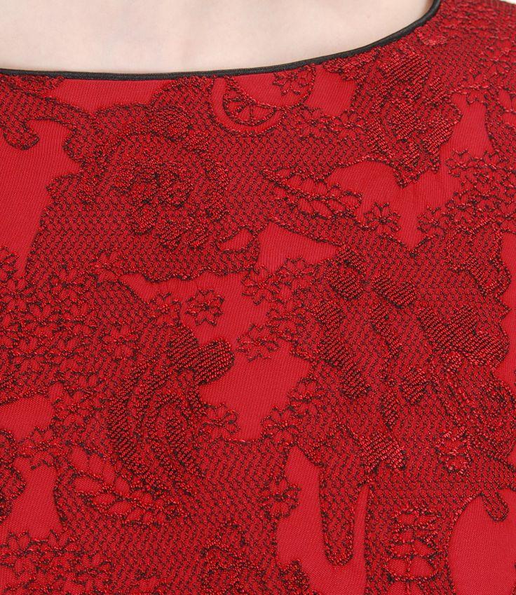 Beautiful brocade  #details #red #brocade #fall