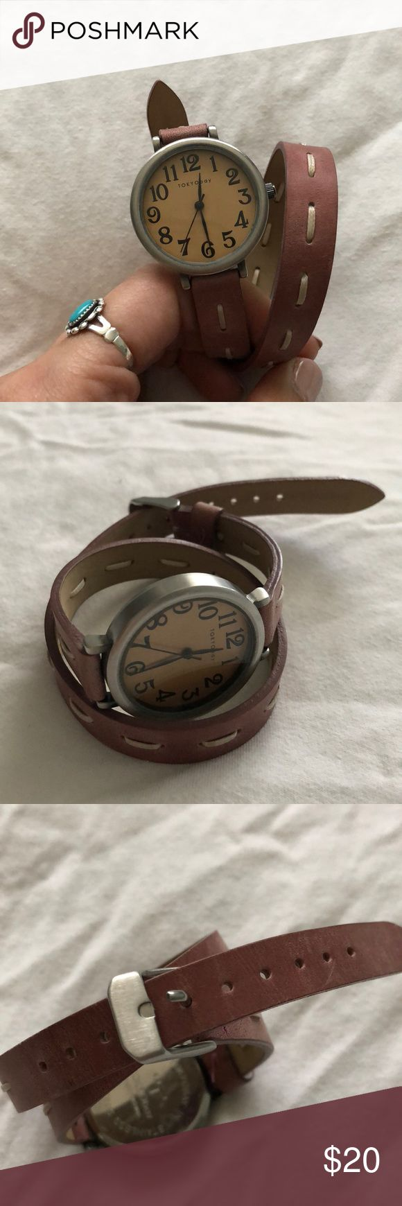 Tokyo Bay leather wrap watch Brand new never worn watch. Tokyo Bay Brand. Leather strap wrap style watch. Works perfectly but Needs battery. TOKYObay Accessories Watches