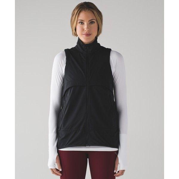 Lululemon Athletica Kicking Asphalt Vest ($98) ❤ liked on Polyvore featuring outerwear, vests, lightweight vest, cinch vest, lululemon, waist cincher vest and lululemon vest