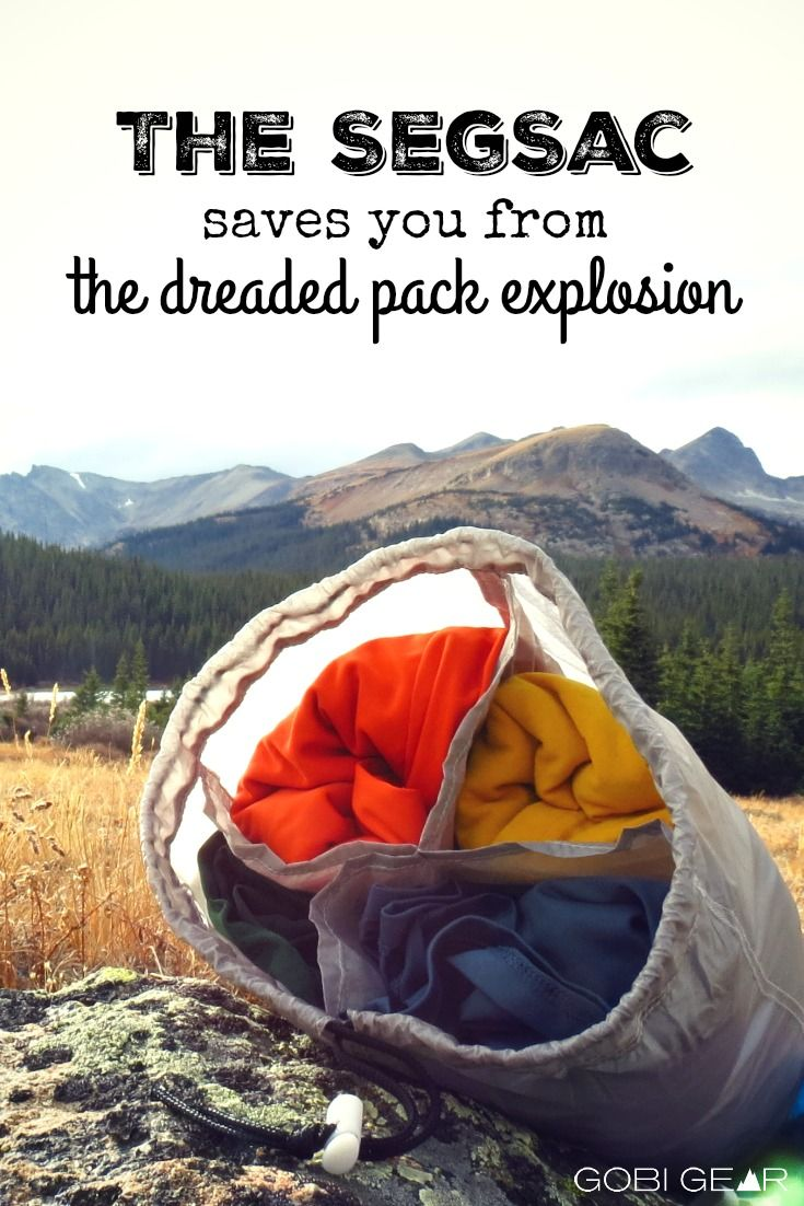 We hate when you come to the end of your journey, only to find that your pack has exploded! That's why we created the SegSac. It keeps all of your gear in it's place with four compartments. Never deal with a pack explosion again!