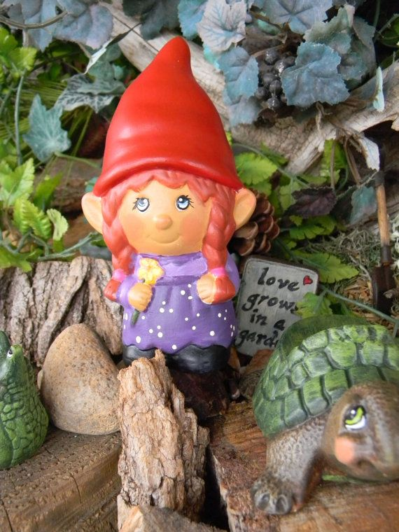 Female Garden Gnomes | Garden Gnome Ceramic Girl Lady Miss Gnomer Lawn,  Garden Or Home ... | Gnomes | Pinterest | Gnomes And Gardens