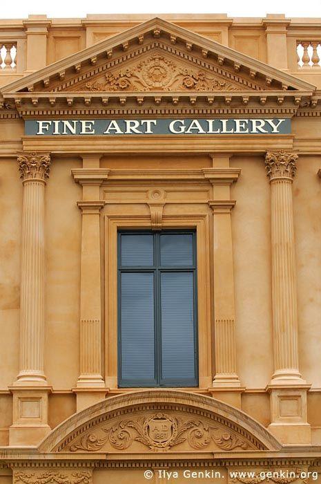 Art Gallery of Ballarat Architecture Details, Ballarat, VIC, Australia.