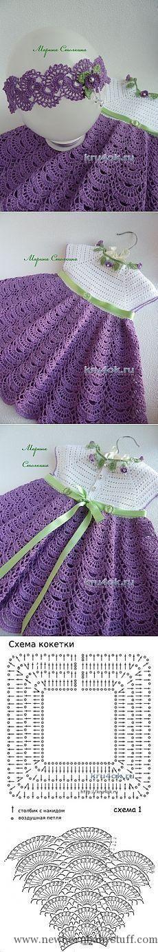 Crochet Baby Dress вяжем детям
