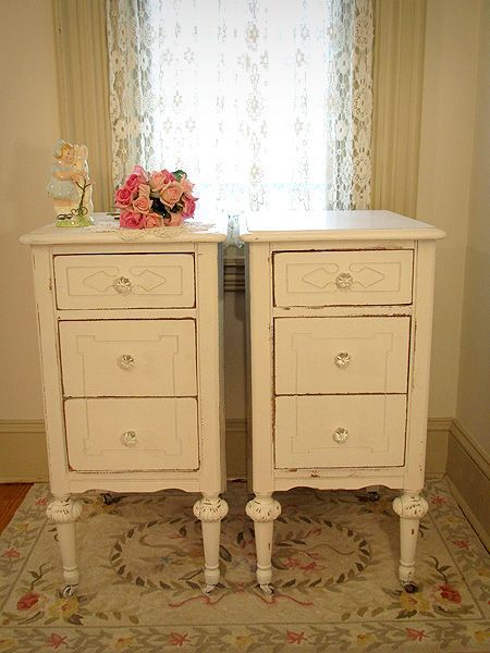 Beautiful Antique White Washed Furniture Beautiful White Antique Matching Nightstands