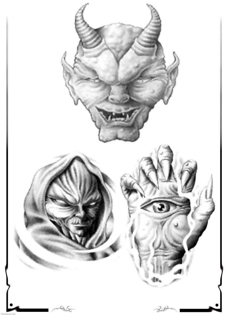 13 best demon tattoo designs images on pinterest satanic tattoos tattoo designs and demon tattoo. Black Bedroom Furniture Sets. Home Design Ideas