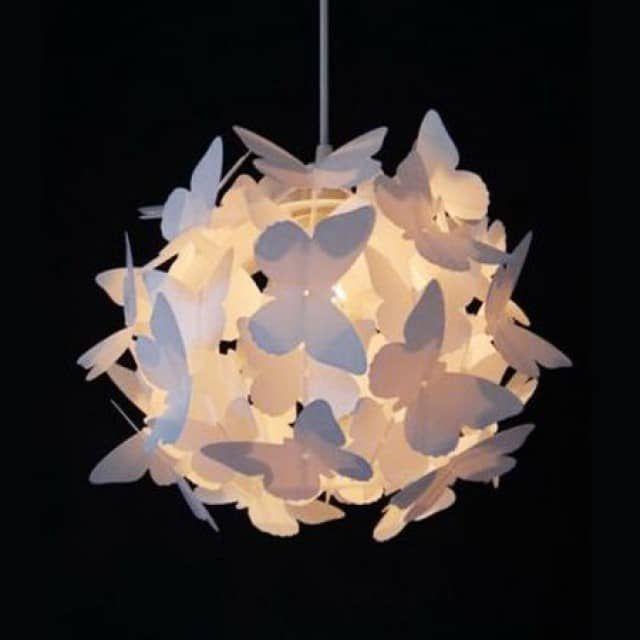 Kinderlamp vlinderliefde wit - Kidzsupplies