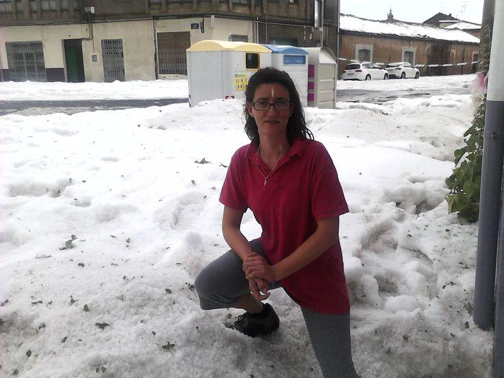 granizada del 2 de julio del 2014 en Almazan Soria