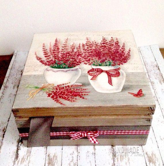 wooden tea box tea or storage box handmade by HandmadeStylishHome