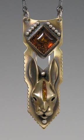 handcrafted animal totem jewelry, Rabbit Jewelry, Rabbit totem