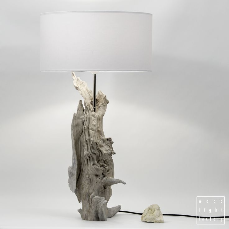 Driftwood table lamp from Wood Light Factory.