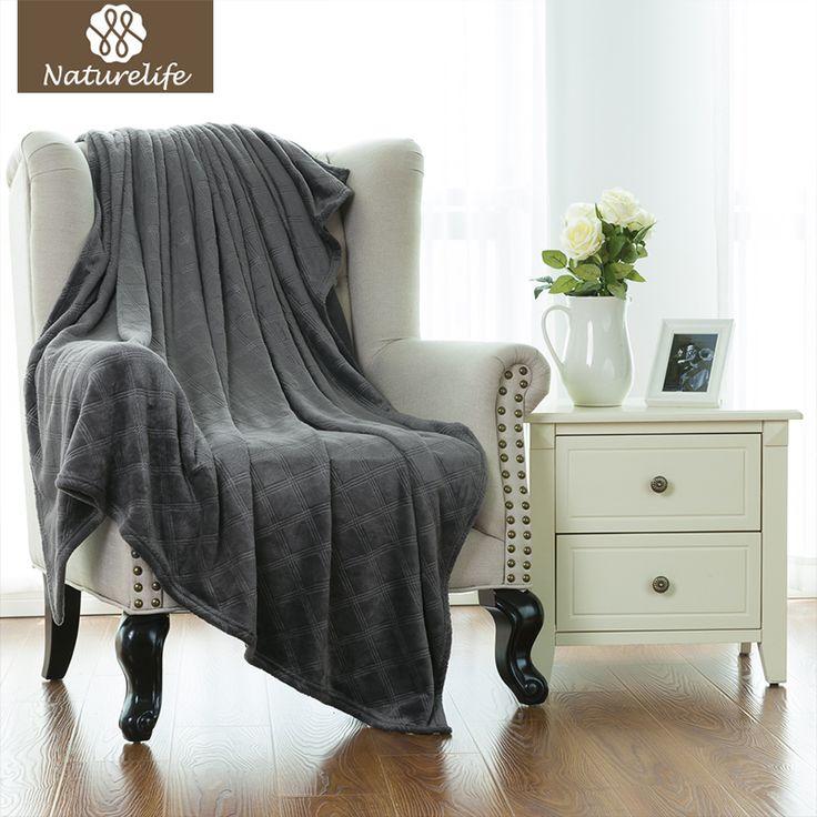 Naturelife Embossed Flannel blanket fleece airplane blankets sofa travel throws soft flannel fleece blanket Queen manta sirena  #Affiliate