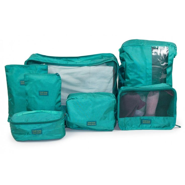 Koffer-Organizer 7-teiliges Set  // Koffer packen wie ein Profi //  #Hauptstadtkoffer #Organizerset #Kofferorganizer #kofferpacken #kofferplatzsparendpacken