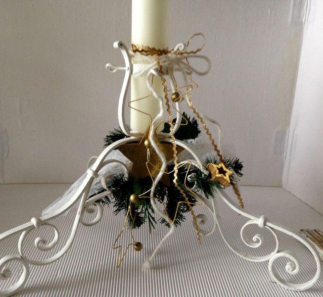 antiker Christbaumständer dekoriert Shabby von einfachschön! auf DaWanda.com