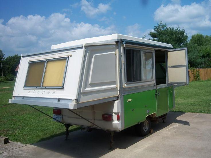 Gorgeous 1975 Apache Mesa Hard Side Pop Up Camper