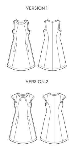 digital chloe sewing pattern