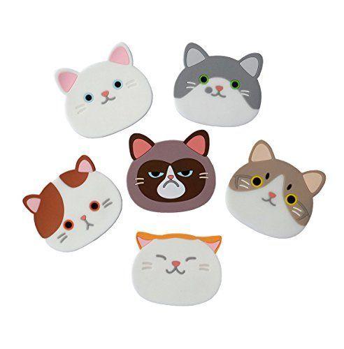 Yunko Qute Cat Cup Mat Silicone Rubber Coaster for Wine,