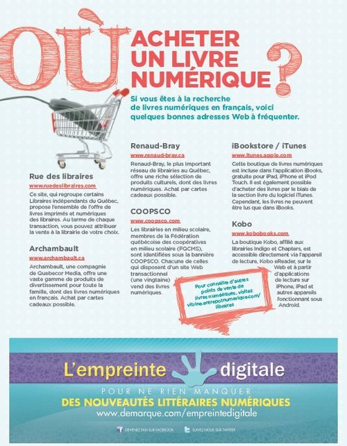 Où acheter un livre numérique ?(Québec / Canada)