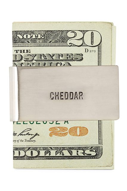 The Ultimate Father's Day Gift Guide #refinery29  http://www.refinery29.com/68587#slide15  Cheese and money, a match made in Wisconsin heaven.